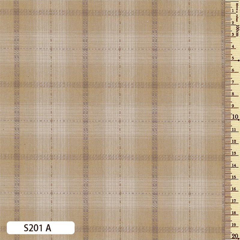 Sakizome Momen Fabric Seed Check A S201A