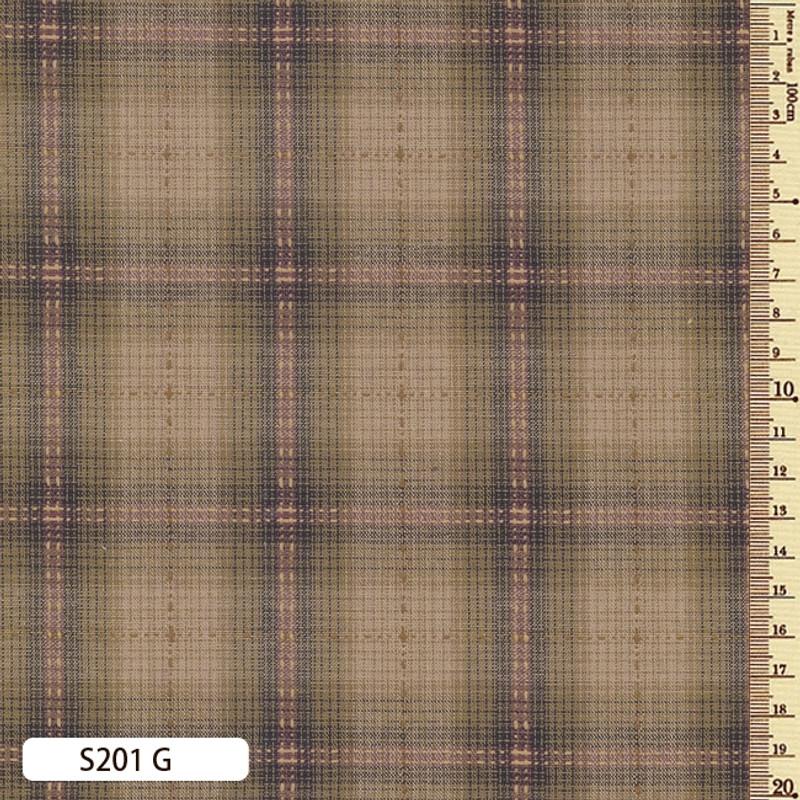 Sakizome Momen Fabric Seed Check G S201G