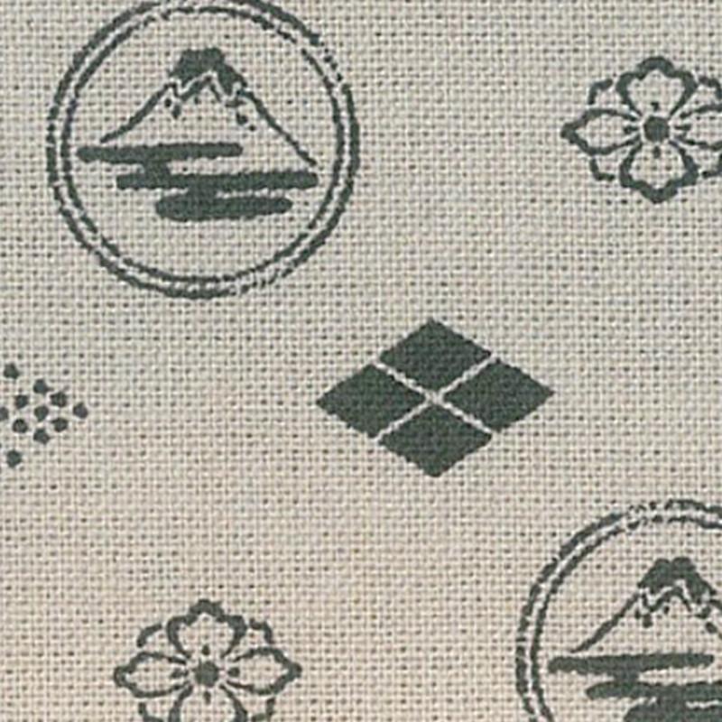 Takumi Printed Cotton Fabric Beige 13N-8D