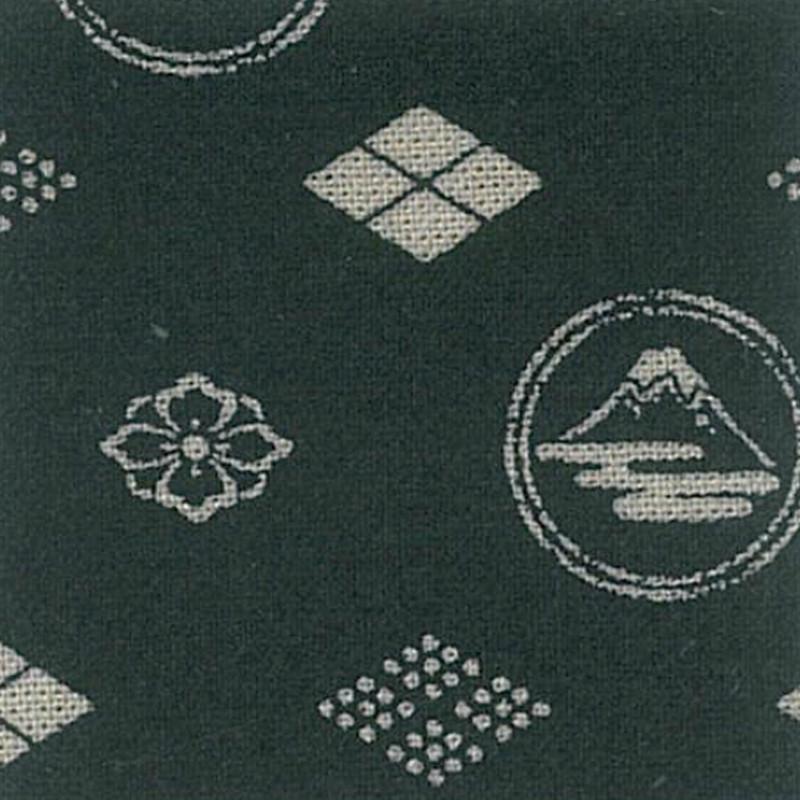 Takumi Printed Cotton Fabric Black 13N-8A