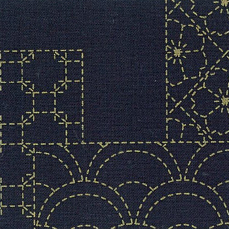 Takumi Printed Cotton Fabric Purple 13N-6PD