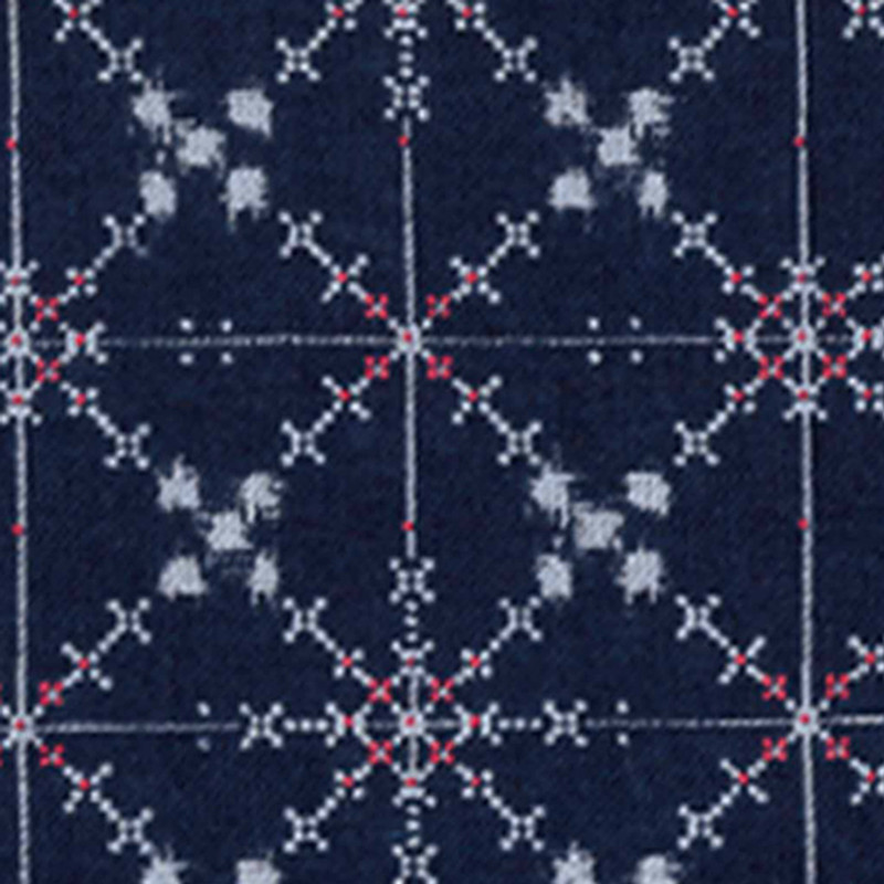 Takumi Printed Cotton Fabric Indigo 11N-26B