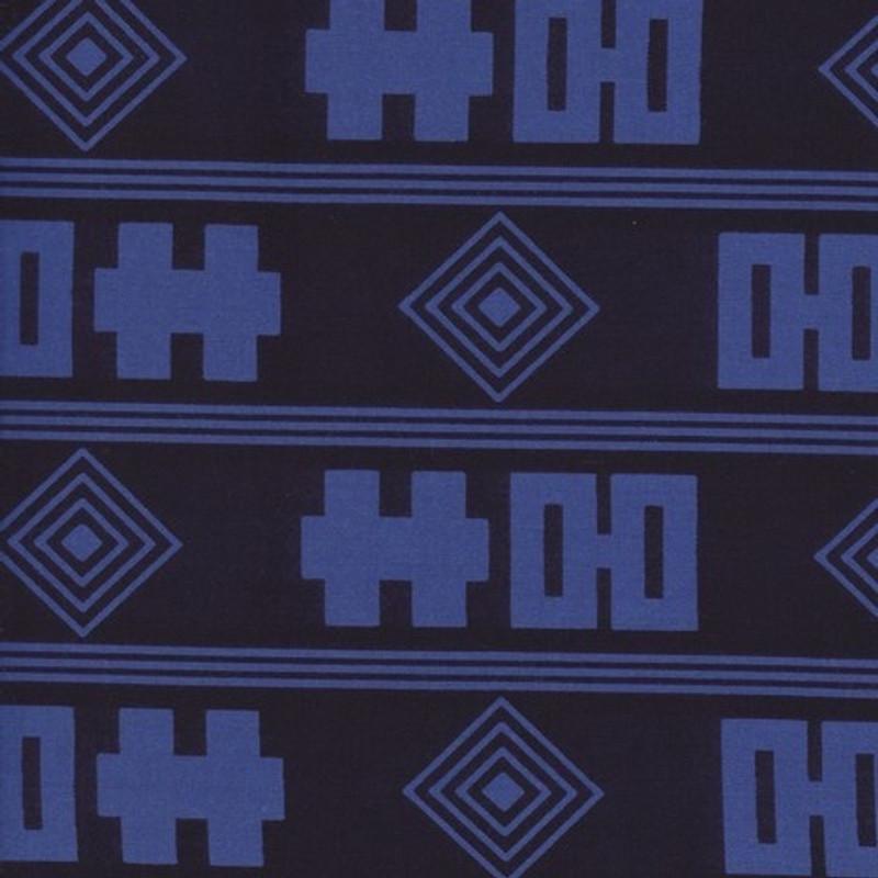 Yukata Printed Cotton Fabric Kimono Width Blue & White TYBW-0561