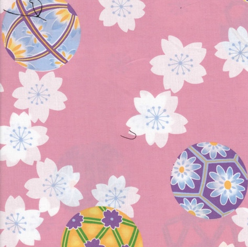 Yukata Printed Cotton Fabric Multi Coloured TY-0002