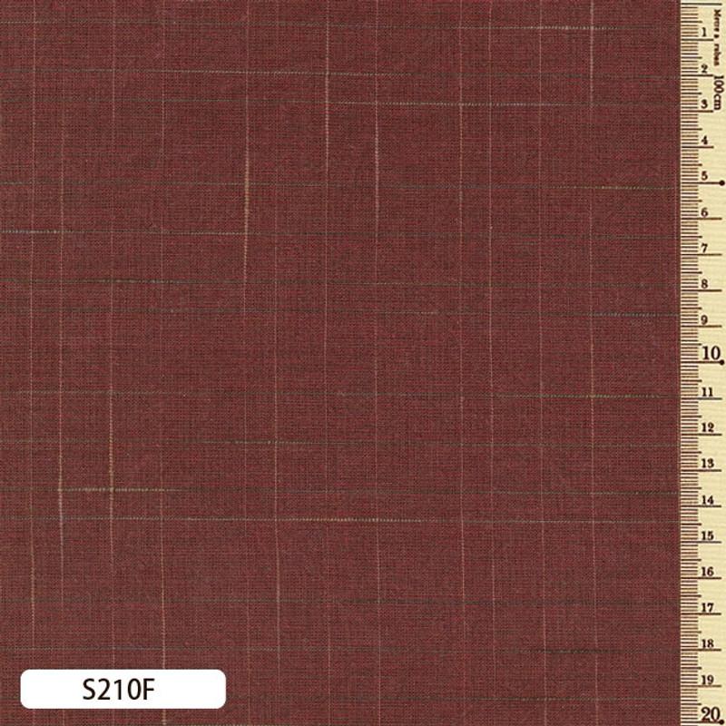 Sakizome Momen Fabric Lattice Check  S210F