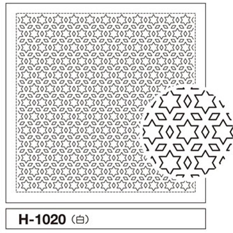 Sashiko Sampler Star and Three Diamond H-1020