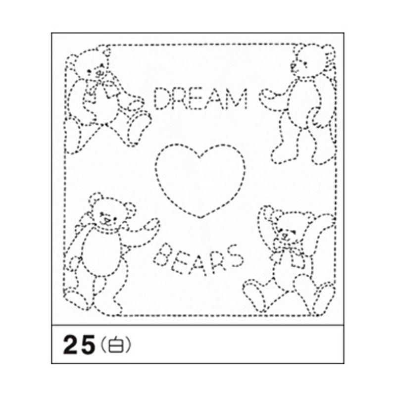 Sashiko Sampler Dream Bears SS-25