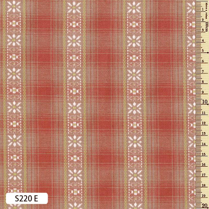 Sakizome Momen Fabric  Floral March S220E