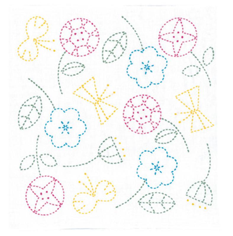 Olympus Sashiko Kit Happy Flowers & Butterflies SK-326