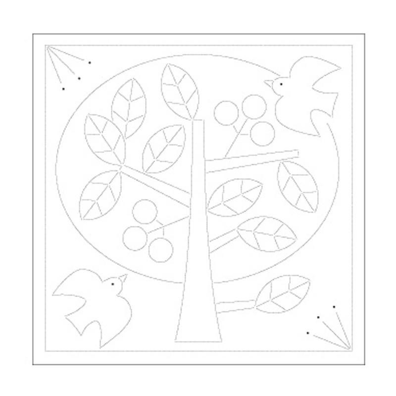 Sashiko Sampler Peace Tree SS-H-1030