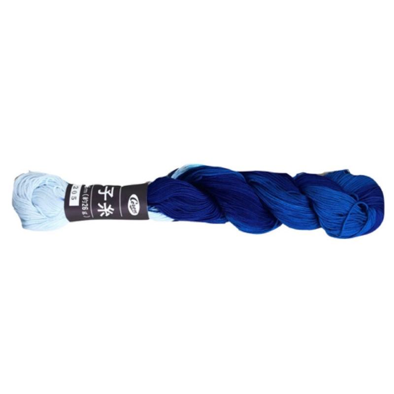 Sashiko Thread Coron Blue Swirl CT-205