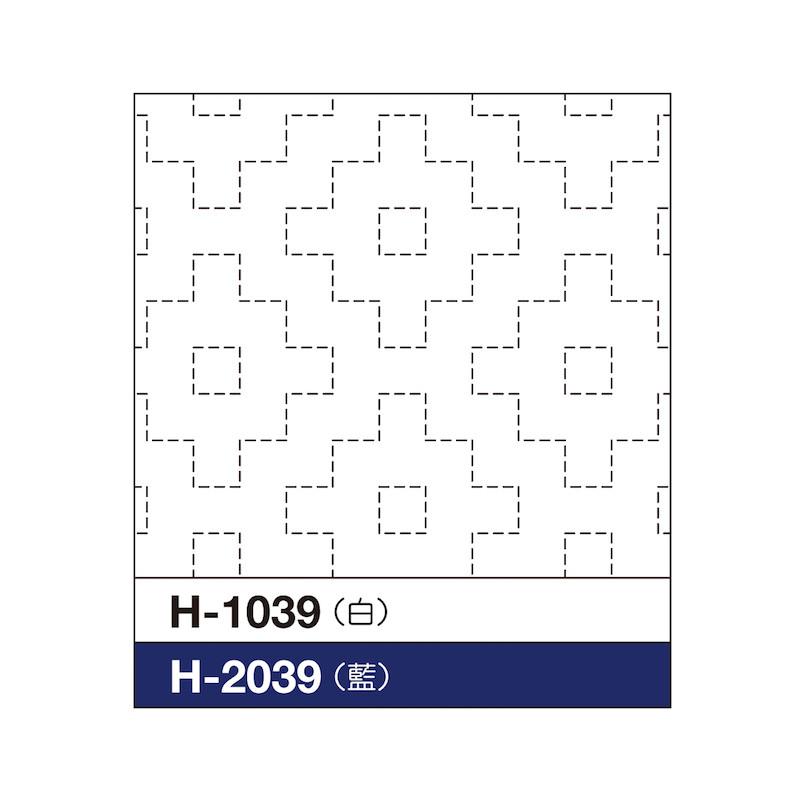 Sashiko Sampler Persimmon Blossom H-1039/H-2039