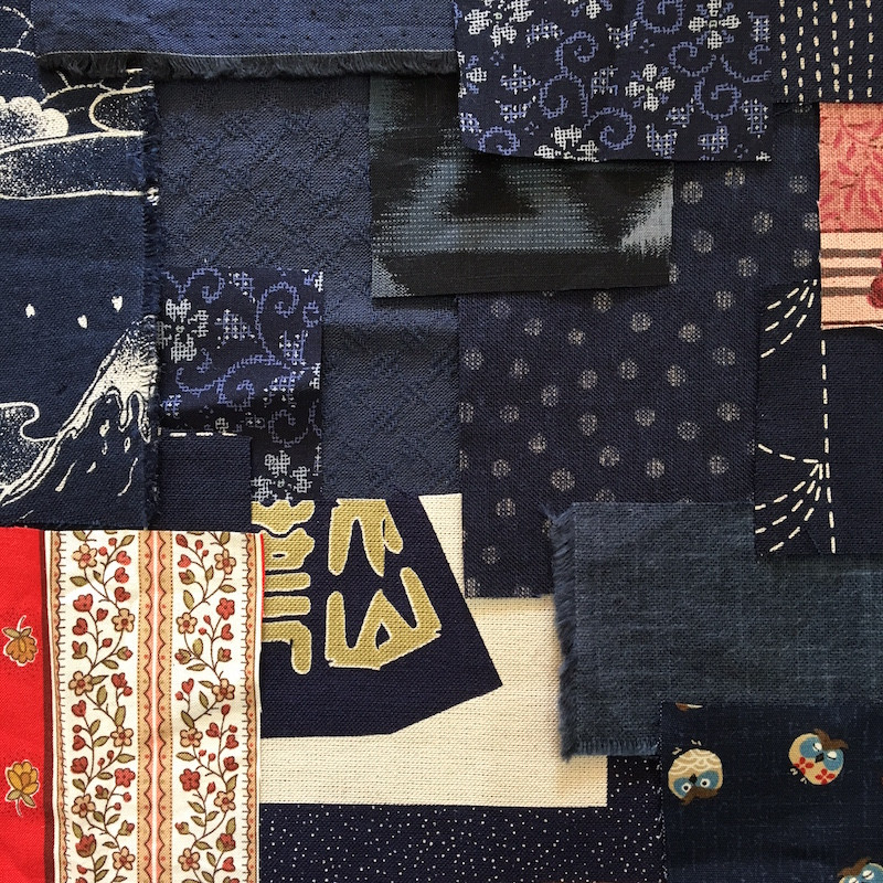 Boro Inspired Fabric Pack Blue FP-BBU19