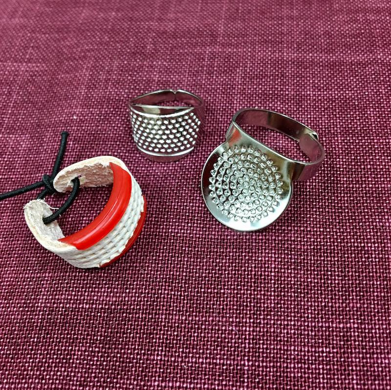 Collection of Three Sashiko Thimbles SO-047