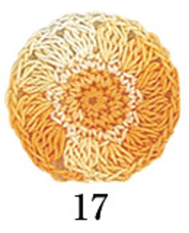 Crochet Thread Gold Label Shaded Light Orange GLS-17