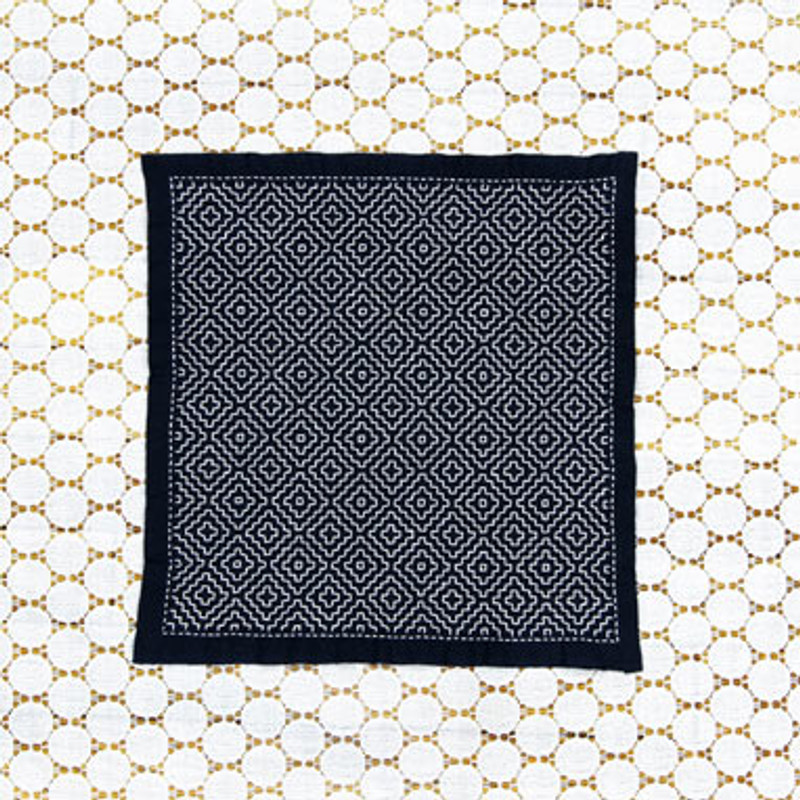 Olympus Sashiko Kit One Stitch Sampler Persimmon Navy SK-334