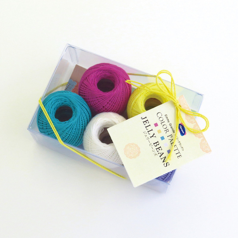 Crochet Thread Emmy Grande Color Palette Jelly Beans Pack JAN-079425