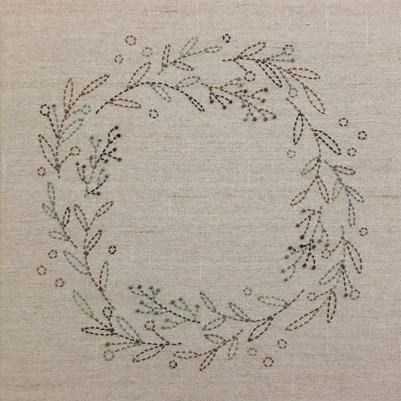 Sashiko Australian Bush Colours Wreath Kit SKCWA-2017