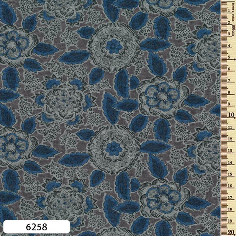 Printed Cotton Fabric Sarasa SAR-6258