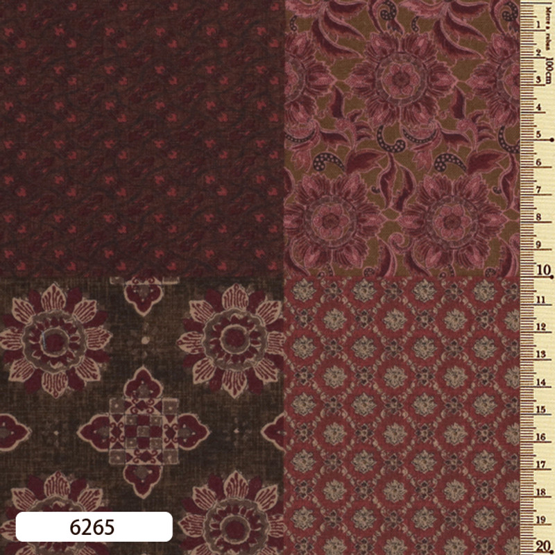 Printed Cotton Fabric Sarasa Panel SARP-6265