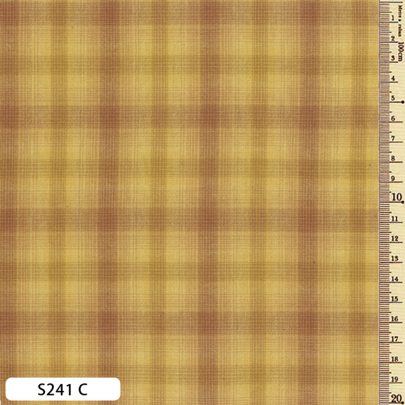 Sakizome Momen Fabric Checks S241C