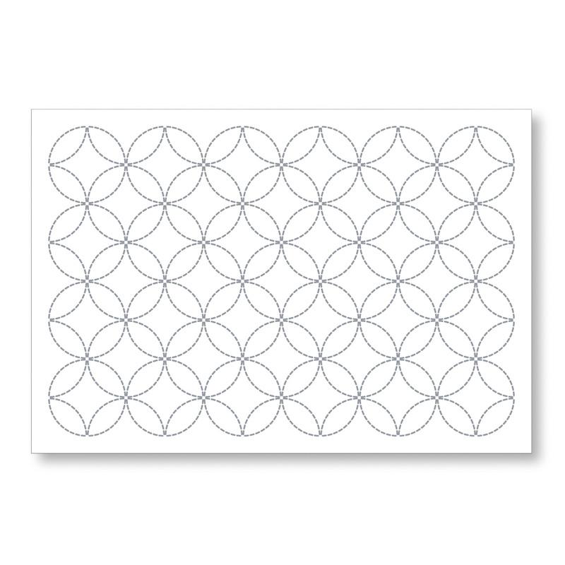 Sashiko Placemat Interlocking Circles L-1001/L-2001