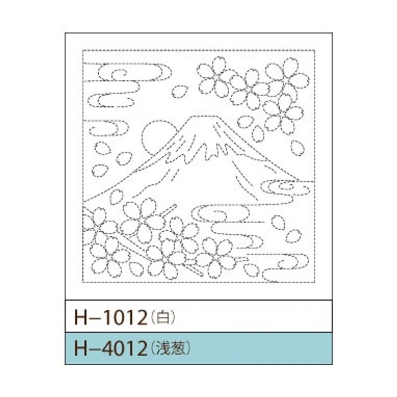 Sashiko Sampler Mount Fuji H-1012