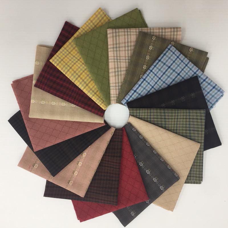 Mixed Sakizomemomen 16 x  Fabric collection SKFP-01