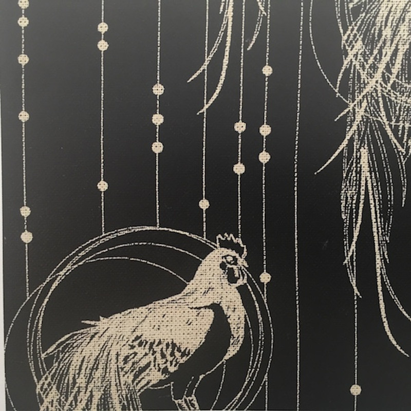 Takumi Printed Cotton Fabric Black 16N-2A