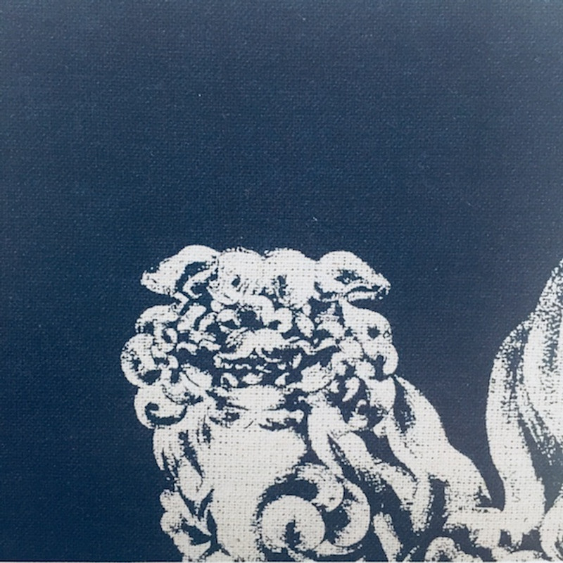 Takumi Printed Cotton Fabric Indigo 17N-2B