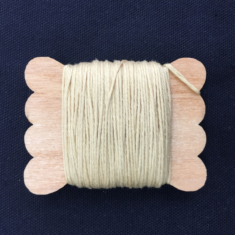 Sun Dyed Sashiko Thread  20m Straw STBW-04