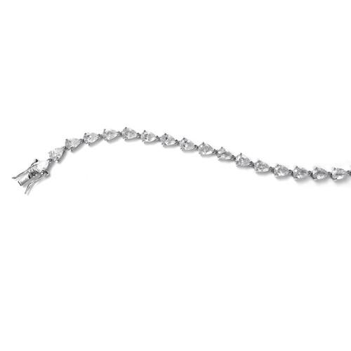 Pear Shaped CZ Bridal Tennis Bracelet Jewelry