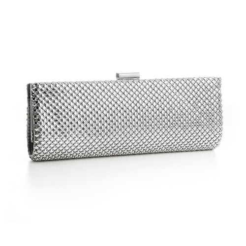 Silver Mesh Clutch Evening Bag