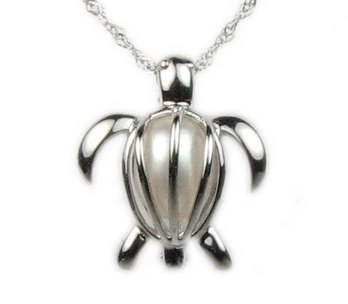 Pearl in Oyster Gift Set w/Turtle Pendant