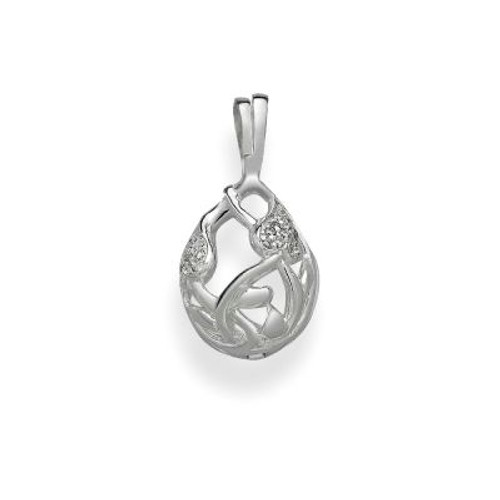 Pearl in Oyster Gift Set w/Sterling SIlver Floral Drop Pendant