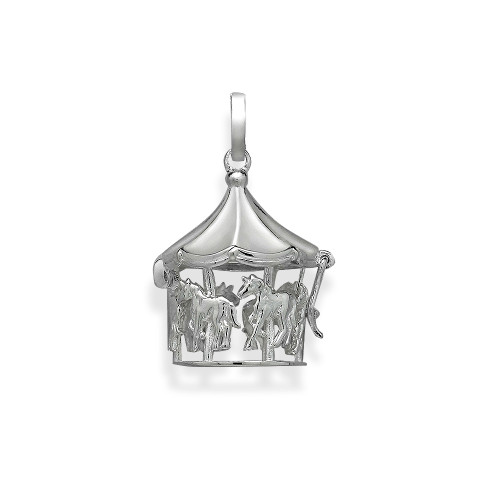 Pearl in Oyster Gift Set w/Sterling Silver Merry Go Round Pendant