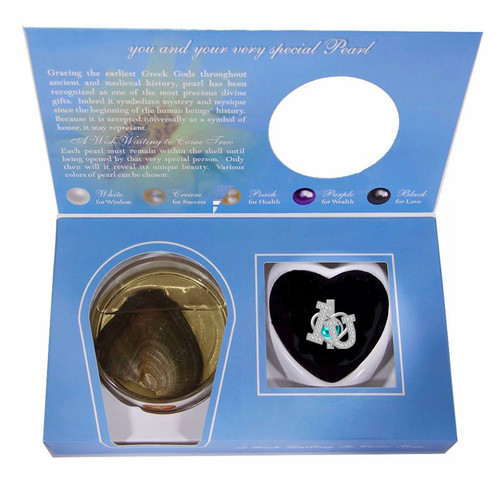 Sterling Silver I Love You Pendant w/Pearl Oyster Kit