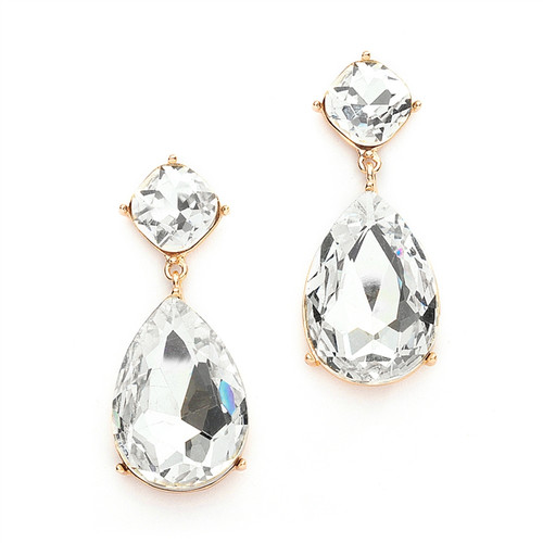Ever so Chic Bridal | Prom CZ Dangle Earrings