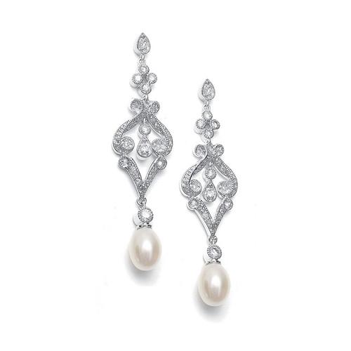 Freshwater Pearl Bridal | Prom Drop Earrings Jewelry