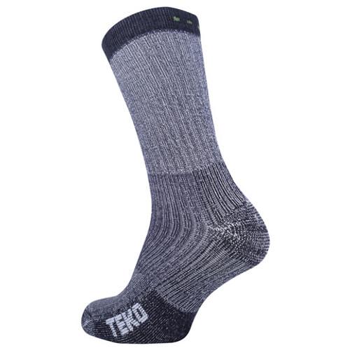 Teko Merino Trekking Socks: Charcoal