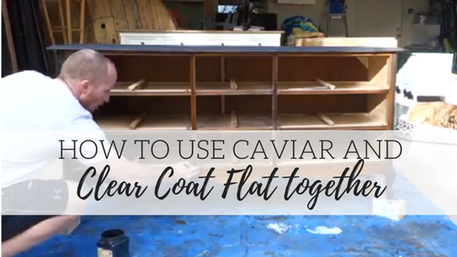 How to Use Caviar and Clear Coat Flat Together!