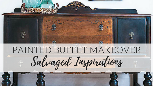 Painted Buffet Makeover - Salvaged Inspirations