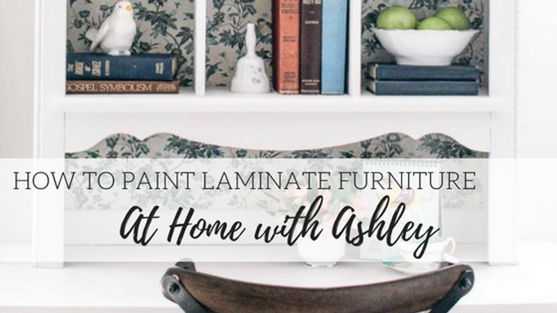 How to Paint Laminate Furniture - At Home with Ashley