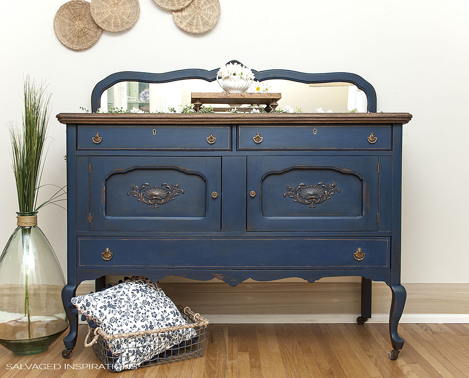How to Makeover a Blue Buffet   Dixie Belle Paint Company