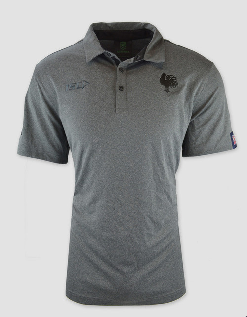 Sydney Roosters 2017 Mens Vintage Polo - Grey Marle