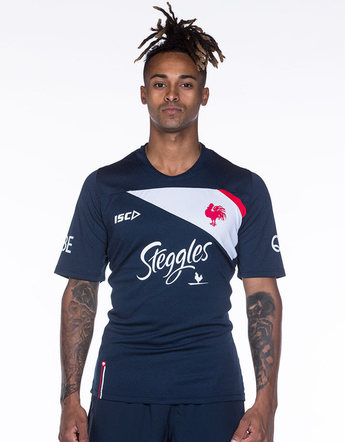 Sydney Roosters 2018 Mens Training Tee - Navy/White
