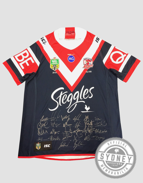 Sydney Roosters 2018 Limited Edition Signed Jersey