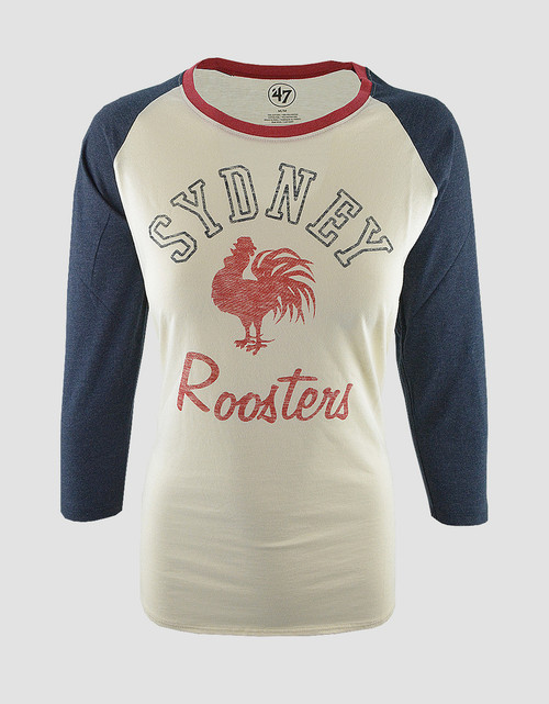Sydney Roosters Womens 47 Brand Arch Splitter L/S Tee
