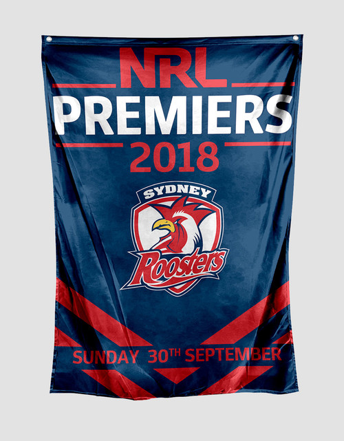 Sydney Roosters 2018 Premiers Wall Flag