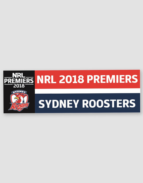 Sydney Roosters 2018 Premiers Car Window Decal Sticker